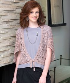 Flutter Cardigan Directions are for size Extra Small. Changes for sizes Small, Medium, Large, 1X, 2X, and 3X are in ( )