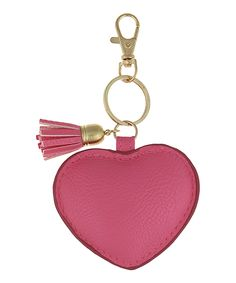 Capelli New York Pink Heart & Tassel Key Chain | zulily  . $7.99 $14.00  .  Product Description:  This heart key chain adds a pop of lovely color to little one's bags and ensembles.      3'' W  .     Polyurethane / steel  .     Imported