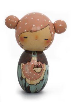 cute little wooden doll