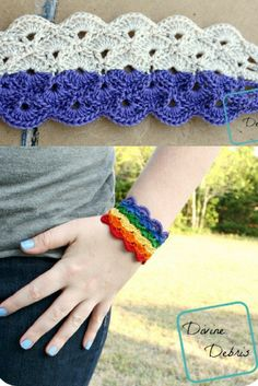Crochet bracelet pattern that's all the gorgeousness you need for spring and summer!