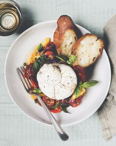Heirloom Tomato, Chorizo + Burrata Salad | Chantelle Grady