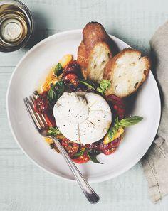 Heirloom Tomato, Chorizo + Burrata Salad | Chantelle Grady