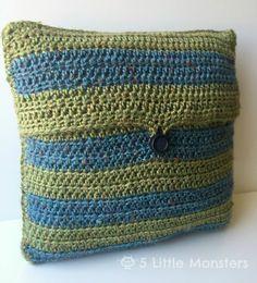 5 Маленькие Монстры: Полосатый Вязание Подушка Обложка