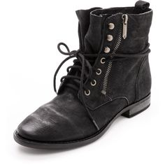 Sam Edelman Mackay Combat Booties - Black (360 SEK) ❤ liked on Polyvore featuring shoes, boots, ankle booties, botas, sapatos, black booties, black military boots, black ankle booties, black slouch boots and sam edelman booties