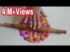 बेलन के साथ दिवाली की आसान रंगोली tulsivivah Special Rangoli using comb - YouTube