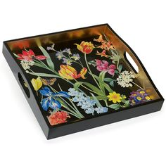 Browse Scully & Scully's collection of hand painted decorative trays, lacquer trays and decoupage trays perfect for everyday use. Shop beautiful trays now. Painted Trays, Hand Painted, Arte Naturalista, Home Decor Accessories, Decorative Accessories, Scully And Scully, Sweet Box, Decoupage Art, Wood Tray