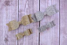 Silver Shimmer Hair Bow Clippies/ Big Sis and Little by Lillianas, $7.00