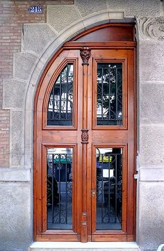 Catalonian Modernism doors, Barcelona, Spain.