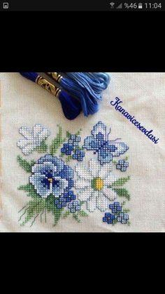 Menekse Cross Stitch Kitchen, Mini Cross Stitch, Cross Stitch Heart, Cross Stitch Borders, Cross Stitch Flowers, Cross Stitch Designs, Cross Stitching, Cross Stitch Patterns, Hand Embroidery Art