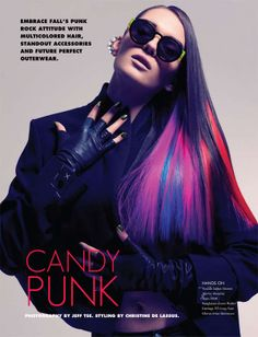 Double-Winged Eyeliner Editorials - The Fashion Gone Rogue 'Candy Punk' Photoshoot is Brightly Edgy (GALLERY)