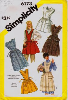 Retro Apron Sewing Pattern Choice of Length by QualityJunk on Etsy