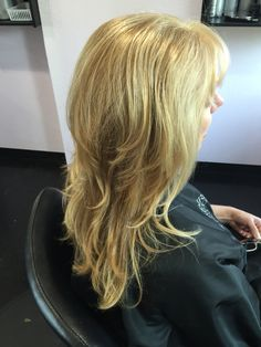 Blonde, blondie, complete grey coverage, long hair, long layers, beauty, blowout, Kenra color, Kenra, Kenra blow dry spray, Kenra anti frizz oil, Titusville, Florida On Facebook at : Hair by Karissa at etc hair studio  On Facebook at : Hair by Karissa at etc hair studio