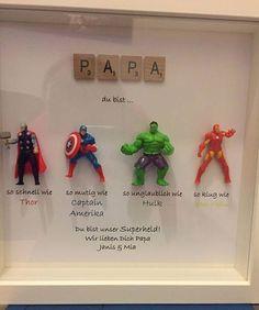 The Avengers Superhelden Zahlen Frame Geschenk. Ideal für