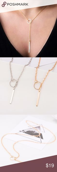 CHANTELLE lariat necklace - GOLD/SILVER Dainty & feminine lariat style necklace. Available in gold or silver tone. PRICE FIRM Bellanblue Jewelry Necklaces