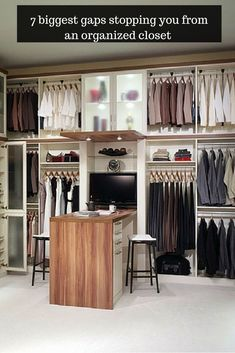 Stop putting up with a messy closet! Read these 7 closet storage gaps you need to eliminate right now! Innovate Home Org Cool Shelves, Storage Shelves, Shelving, Closet Storage, Closet Organization, Innovation, Closet System, Walk In Closet, Minimalist Decor
