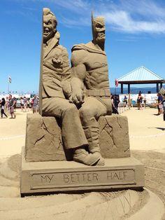 Unbelievable Batman Sand Sculpture in Parksville, British Columbia