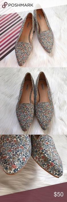 Marais USA Floral Loafers Pre-loved, No box, Women's slip on pointed toe loafers, Floral Textile upper, man made sole, Anthropologie Brand. Please feel free to ask questions. No trades. Marais USA Shoes Flats & Loafers