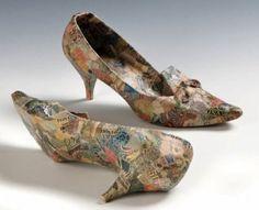 Jiri KOLAR (1914-2002) Shoes Collages on shoes.
