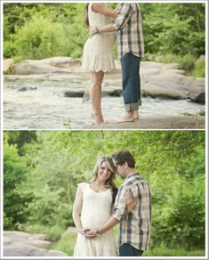 Rustic Country Maternity Shoot with Pregnancy Announcement Outdoor Maternity Pictures, Maternity Poses, Maternity Portraits, Country Maternity, Maternity Photography Outdoors, Photography Ideas, Delivery Photos, Pregnant Couple, Pregnancy Photos