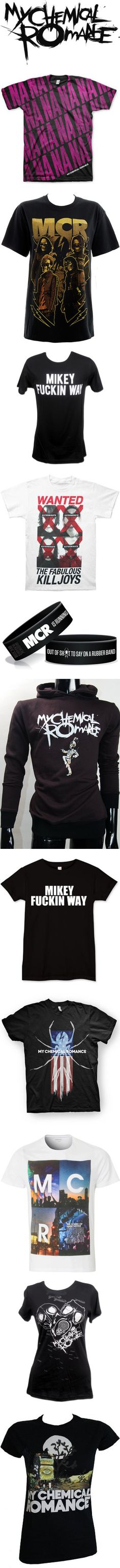"""Band Merch: My Chemical Romance"" by barakatwhore ❤ liked on Polyvore"