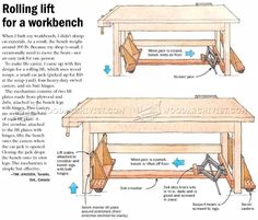 Rolling Lift for a Workbench - Workshop Solutions Plans, Tips and Tricks | WoodArchivist.com