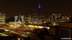 Stock Footage of Static night timelapse of the Johannesburg Park station (Gautrain) showing the hustle and bustle of people at the train station parking area during peak traffic time after work, South Africa. Explore similar videos at Adobe Stock Seattle Skyline, New York Skyline, City Scene, Train Station, Stock Video, Empire State Building, High Quality Images, Stock Footage, Hustle
