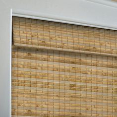 Shop Levolor Natural Bamboo Light Filtering Woven Natural Roman Shade (Common: 60-in; Actual: 59.5-in x 60-in) at Lowes.com