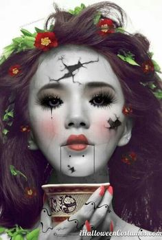 I am made up entirely of broken pieces...glued together with good intentions....Broken Doll.
