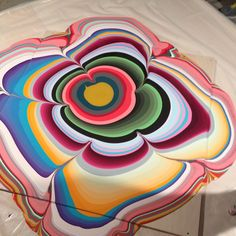 Holton Rower pour painting with nail polish - i wonder how this would work with acrylic paint?