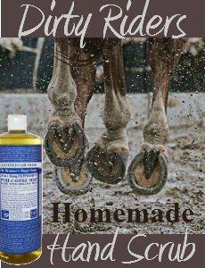 Rider's Homemade Hand Scrub DIY Recipe | Savvy Horsewoman