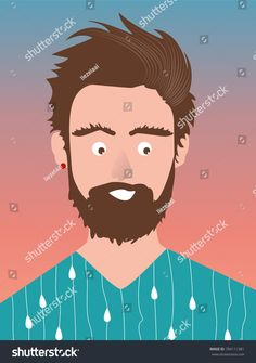 Man with beard Find Man, Bearded Men, Royalty Free Stock Photos, Illustration, Movie Posters, Pictures, Image, Art, Men Beard