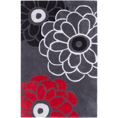Modern Art Dark Gray/Multi Rug | Wayfair