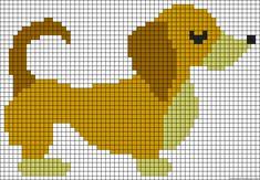 Needlepoint Patterns, Crochet Blanket Patterns, Baby Blanket Crochet, Cross Stitch Charts, Cross Stitch Designs, Cross Stitch Patterns, Graph Crochet, Bobble Stitch, Dog Crafts