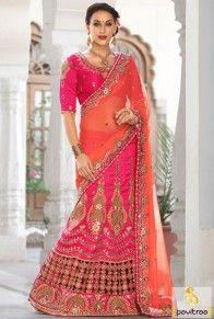 #Pink #Tomato #Silk Indian Bridal Vivah Saree for #Ring #Ceremony #partywearsaree, #designersaree, #festivalsaree, #saree, #designerblouse, #onlinesaree, #emboiderysaree, #bollywoodsaree, #newyearsareecollection, #discountoffer, #wholesalesaree, #festivaloffer Call/ WhatsApp : +91-7698234040  http://www.pavitraa.in/store/designer-sarees/?utm_source=pk&utm_medium=pinterestpost&utm_campaign=17Feb