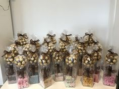 Ferrero Rocher sweet trees by sweet Creations Sweet Trees, Ferrero Rocher, Brother Scan And Cut, Candy Bouquet, Bouquets, Gifts, Favors, Bouquet, Bouquet Of Flowers