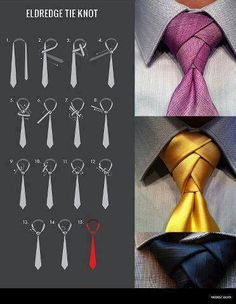 Eldredge Tie Knot (video instructional)  For the future... if I ever get married????... :)