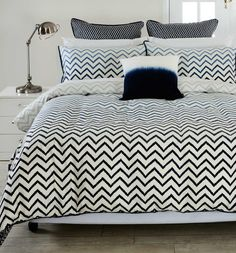 Chevron print quilt (currently almost half price). I think this is the one Dan and Dani had on The Block?
