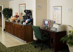 Business Center and entrance to the Breakfast Area