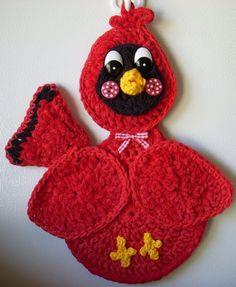 Crochet Red Bird,  by Jerre Lollman