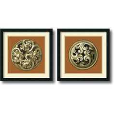Found it at Wayfair - 'Graphic Medallion IV and V' by Vision Studio 2 Piece Framed Graphic Art Set