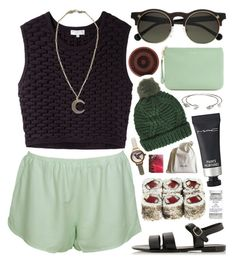 """""""Only You"""" by shonamae ❤ liked on Polyvore featuring Opening Ceremony, Elizabeth and James, Monki, Rebecca Minkoff, Topshop, H&M, MAC Cosmetics, Olivia Burton, Korres and Alkemie"""