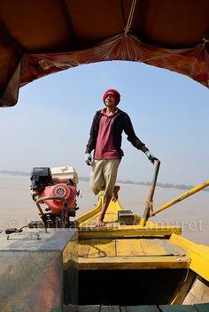 Mekong, Kratie . Cambodia