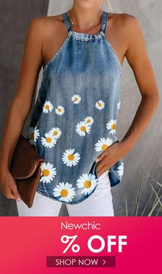 Denim Fashion, Look Fashion, Blouse En Jean, Denim Blouse, Denim Flowers, Denim Crafts, Printed Denim, Diy Clothes, Ideias Fashion