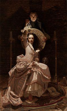 "Dracula by ARANTZAZU MARTINEZ  64"" x 38""/ 162 x 97cm. Oil on linen.   John Butler private collection"