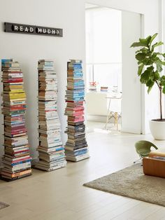 12 home tours: revisit brooklyn-apartment-tour-cupofjo Sapien Bookcase, Colorful Apartment, Brooklyn Apartment, Home Libraries, Stack Of Books, Decoration Design, Book Nooks, House Colors, Home And Living