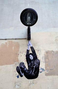 La machine infernale – Les nouvelles créations street art de Levalet