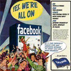 #Vintage Poster of Facebook. #excelenciaip