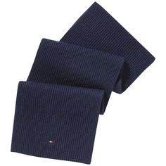 Hochwertiger, eleganter Schal aus einem Baumwolle-Kaschmir-Mix, in Rippoptik und Logostitching.95% Baumwolle, 5% Kaschmir...