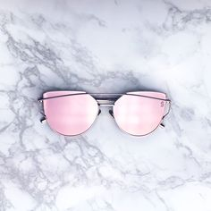 - UV 400 - Metal Frames Polycarbonate Mirror Lens Pink/ rose gold mirrored…