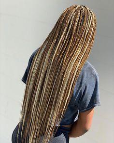 Long Box Braids: 67 Hairstyles To Upgrade Your Box Braids - Hairstyles Trends Black Girl Braids, Braided Hairstyles For Black Women, Braids For Black Hair, Girls Braids, Brown Box Braids, Colored Box Braids, Blonde Box Braids, Braids With Color, Ombre Box Braids